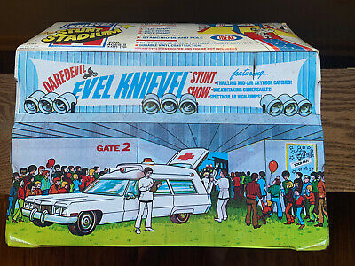Evel Knievel Stunt Stadium Ideal 1974 SEALED - NEVER OPENED Box