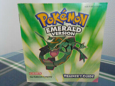 Pokemon - Emerald Version - Gameboy Advance - Trainer's Guide - Manual only