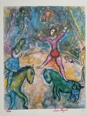 "Marc Chagall Original 1984 Hand Signed & Numbered Print ""The Circus"" 