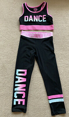 Girls Sports Set - Leggings and Crop Top Age 8-9 Years