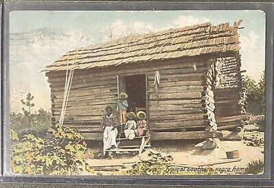 Black Americana Postcard Typical Southern Negro Home Stamped 1907