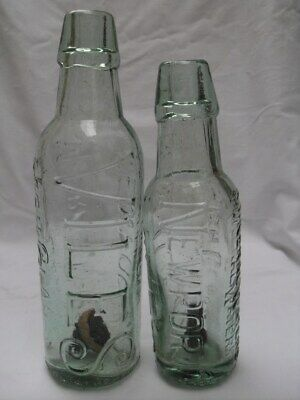 pair of VILE'S NEWPORT bullet stoppered pop bottles c 1900