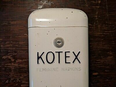 Vintage 1950s 5¢ Kotex Feminine Napkin Dispenser. Works. West Disinfecting Co.