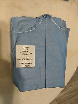 LOT OF 3 Surgical gown  practice XL X large X long Medline PPE isolation