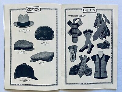 Collins & Fairbanks Men's & Women's Fall Clothing & Hat Styles 1926 Catalogue