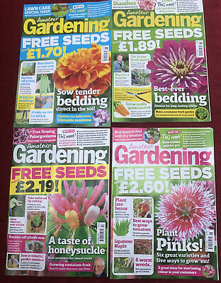 4 amateur gardening magazines From May 2017