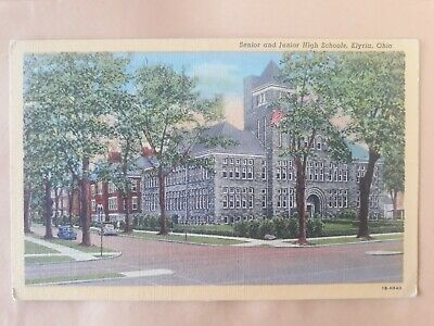 Postcard Senior and Junior High Schools Elyria Ohio USA Postcard