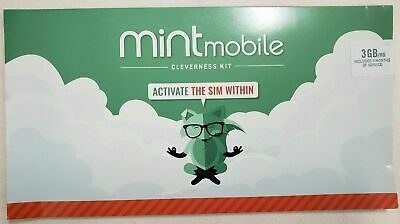 Mint Mobile Prepaid SIM Card Unlimited Talk & Text 3GB/Month LTE for 3 month 3GB