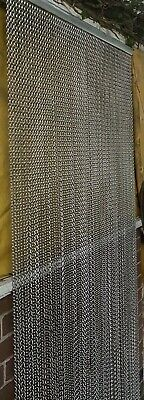 "UK Metal Chain Insect Fly Door Curtain Screen Aluminium Pest Control  82"" X 36"""