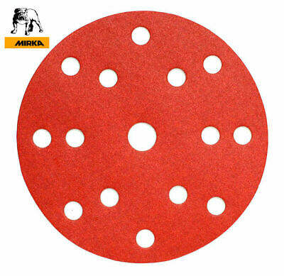150mm 6 inch Sanding Discs 15 Hole MIRKA Vecro Sandpaper Pads Hook and Loop