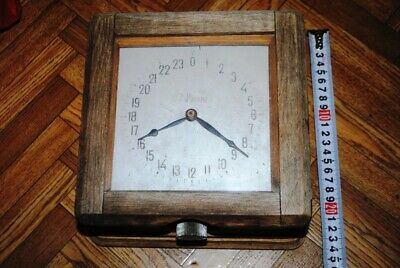Antique Ship Clock (15687) (Original) wooden case.