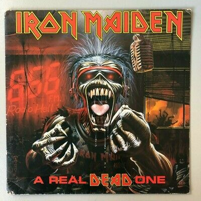 IRON MAIDEN_ Real Dead One vinyle original - LIRE DESCRIPTION