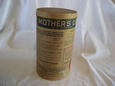 Vintage MOTHER'S OATS 3 lb. Container Very Good Condition Quaker Oats Company