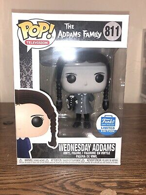 Funko POP! TV Wednesday Addams Family 811 Black And White Funko Shop Exclusive