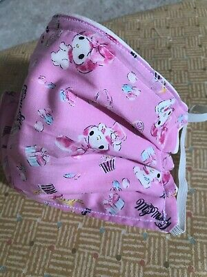 Pink My Melody Handmade adult 3 Layer Hello Kitty Fabric Face Mask Sanrio