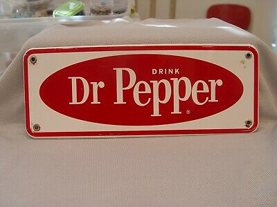Vintage Drink Dr Pepper Porcelain Advertising Machine Chest Wall Soda Sign