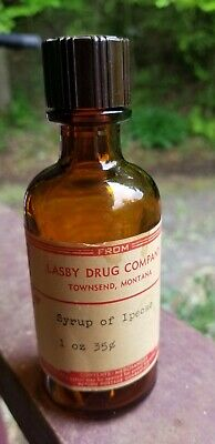 Lasby Drug Company Townsend, Montana Medicine Bottle Original Label And Lid
