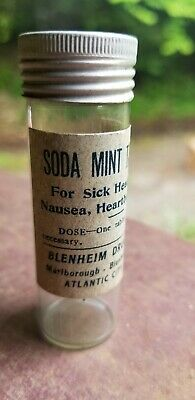 Blenheim Drug Shop Atlantic City, New Jersey Old Medicine Bottle Original Label