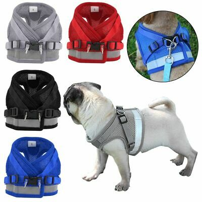 Mesh Padded Soft Puppy Pet Dog Harness Breathable Comfortable Chest Strap Leash