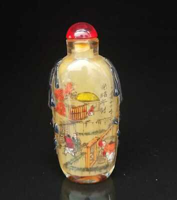Chinese old peking Glass Handmade Inside painting Exquisite Snuff Bottles 004