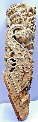Bracket Wooden Carved Corbel Indian Vintage Mughal Art Architectural Collectible