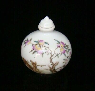 Collectible 100% Handmade Painting Porcelain Snuff Bottles Deer 20