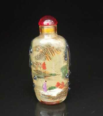 Chinese old peking Glass Handmade Inside painting Exquisite Snuff Bottles 012