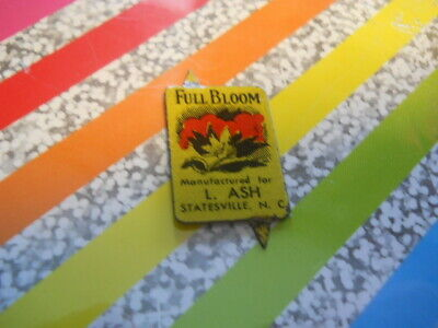 Vintage tobacco tag as seen with the PIC OF A TAG FROM STATESVILLE NC FULL BLOOM