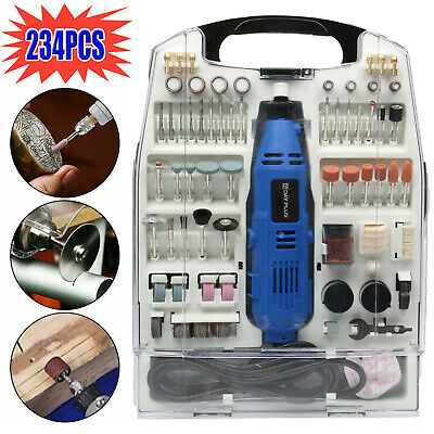 234Pc Rotary Multi Tool Hobby Precision Drill Accessories Compatible With Dremel