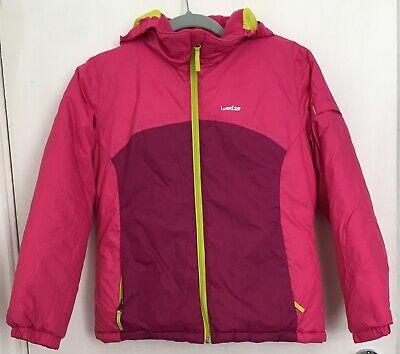 Girls Decathlon Wedze Hooded Coat Age 10 Years