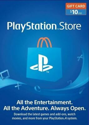 $10 $25 PlayStation Store Gift Card * Fast E Delivery * Brand New * USA Only