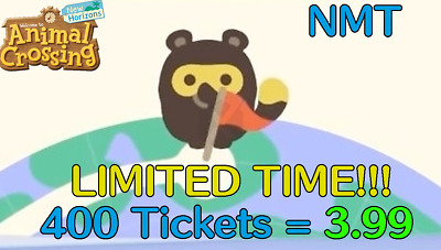 ✈️ Nook Miles Tickets x400 +6 CROWNS SAME DAY DELIVERY(ONLINE NOW) NMT ✈️
