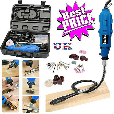 80pcs Rotary Power Drill Multi Tool Kit Grinder Set Dremel Crafting Accessory