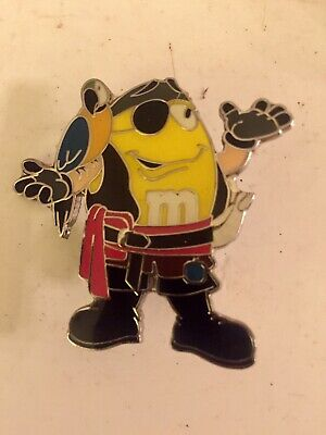 Disney 2008 M&M Pirate Collector Pin By Mars Inc VGC