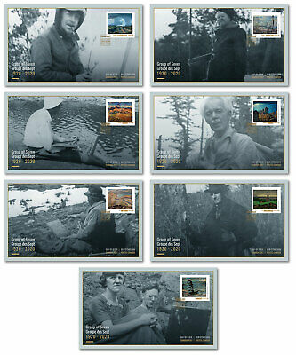 Stamps Canada 2020 - Group of Seven: Set of 7 Official First Day Covers