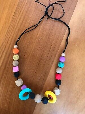 Baby Silicone & Natural Wood Teething Necklace