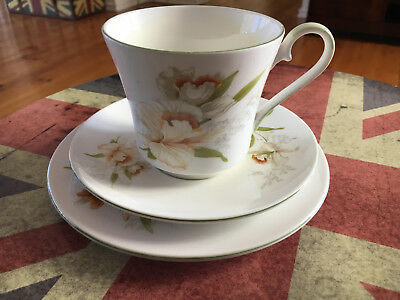 Jason Works Nanrich Pottery Staffordshire England Floral Trio Cup,Saucer & plate