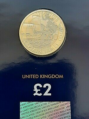 Brand New 2018 & 2019 & 2020 Captain Cook £2 Two Pound BU Uncirculated Coin Hunt