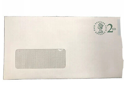 49 PRE PAID 2ND CLASS White DL Envelopes Self Seal  Window 90gsm 110 x 220mm