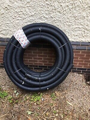 3 80mm x 50m  Perforated Land Drainage Piping Coil Pipes for underground runoff