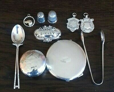 Job Lot Fully Hallmarked English Solid Sterling Silver Resale Reuse Scrap  150g