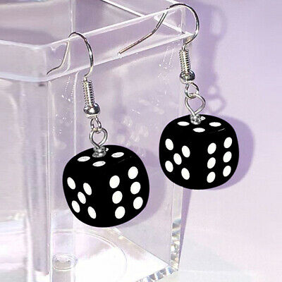 Fashion Dice 925 Silver Jewelry Drop Earrings for Women Gift A Pair/set
