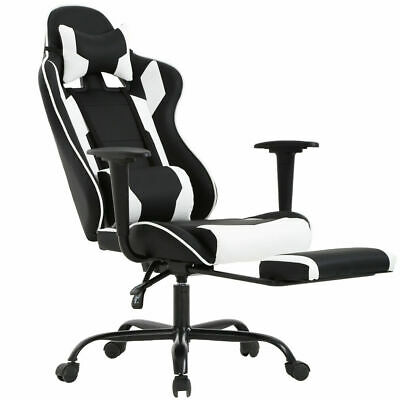 White Office Chair High back Computer Racing Gaming Chair Ergonomic Chair