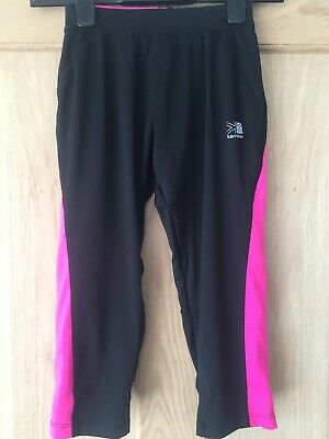 Karrimor Run Uk8 Exercise Legginings Running Leggings Black And Pink Worn Twice
