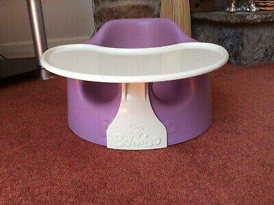 Bumbo Seat With Removable Tray, Purple, In Very Good Condition