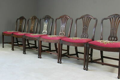 Set 6 Mahogany Good Quality Reproduction Chippendale Style Dining Chairs