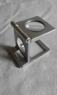 Vintage aluminum thread counter's loupe