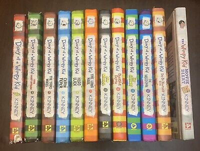 Lot of 12 Diary Of A Wimpy Kid Chapter Books by Jeff Kinney