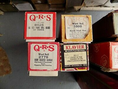 Pianola Piano Rolls  x 3 All are Blues Titles