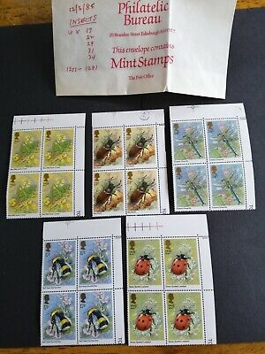 GB Stamps 1985 Commemorative British Insects - 20 stamps mint condition